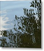 Weeping Willow Reflection Metal Print