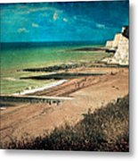 Welcome To Saltdean An Imaginary Postcard Metal Print