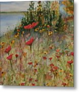 Wendy's Wildflowers Metal Print
