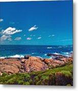 Western Australia Beach Panorama Margaret River Metal Print