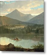 Western Landscape Metal Print by John Mix Stanley