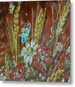 Wheat 'n' Wildflowers I Metal Print