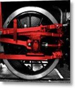 Wheel Of Red Steel Metal Print