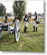 Wheeling The Cannon At Fort Mchenry In Baltimore Maryland Metal Print