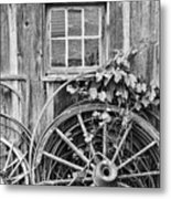 Wheels Wheels And More Wheels Metal Print by Crystal Nederman