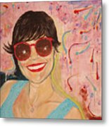When Irene Smiles Metal Print