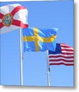 Where Florida Sweden And Us Meet Metal Print