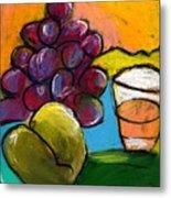 Whiskey  Pear  Grapes Metal Print