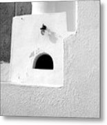 White Abstract Metal Print