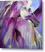 White Arabian Nights Metal Print by Laurie Pace