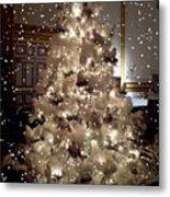 White Christmas Snow Metal Print