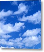White Clouds Metal Print