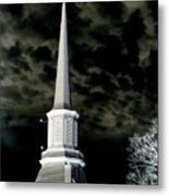 White Cross Dark Skies Metal Print by Joshua House