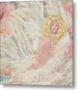 White Feathers Secret Garden Angel 4 Metal Print