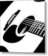 White Guitar 4 Metal Print