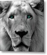 White Lion Hue Metal Print