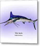 White Marlin Metal Print by Ralph Martens