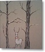 White Stag Metal Print by Ginny Youngblood