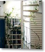 White Stairs In The Sun Metal Print