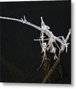 White Stick Metal Print