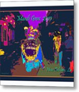 Who Dat At Night In The Quarter Metal Print