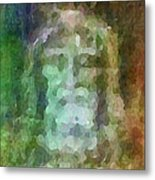 Who Do Men Say That I Am - The Shroud Metal Print