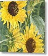 Wild Sunflowers Metal Print
