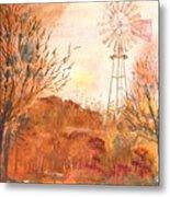 Wilderness Windmill Metal Print
