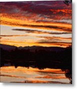 Wildfire Sunset 1v  Metal Print