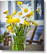 Wildflowers Bouquet At Cottage Metal Print by Elena Elisseeva