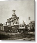 Wilkes Barre Pa. New Jersey Central Train Station Early 1900's Metal Print