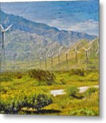 Wind Turbine Farm Palm Springs Ca Metal Print