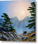 Windblown Pines Metal Print