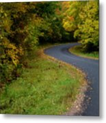 Winding Into Wisconsin Metal Print