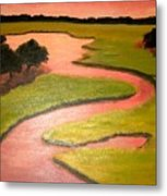 Winding River Metal Print