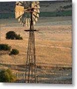Windmill At Dusk Metal Print