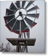 Windmill Frost Metal Print