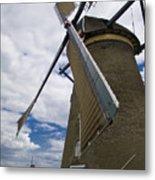 Windmill In Motion Metal Print