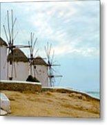 Windmills Of Mykonos I Metal Print