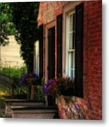 Window Boxes Metal Print