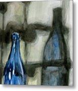 Wine Rack Shadows Metal Print