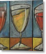 Wine Trio - Option One Metal Print by Tim Nyberg