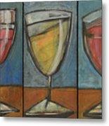 Wine Trio Option 2 Metal Print