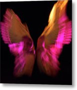 Wings Of Death Metal Print