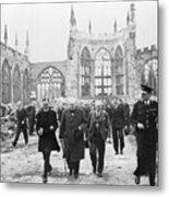 Winston Churchill 1874-1965, Walks Metal Print