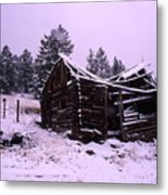 Winter At The Homestead Metal Print