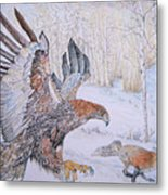 Winter Chase Metal Print by Yvonne Johnstone