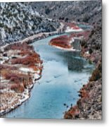 Winter Fisherman Metal Print by Britt Runyon