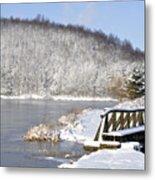 Winter Lake Metal Print