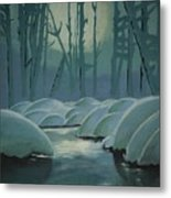 Winter Quiet Metal Print